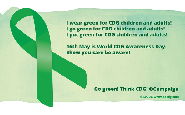 May 16th is World Congenital Disorders of Glycosylation (CDG) Awareness Day