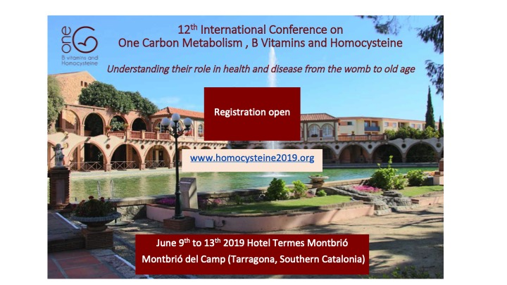 12th International Conference on Homocysteine | 9-13 June
